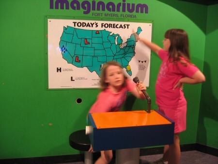 Weather broadcast at the Imaginarium